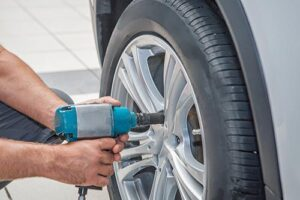 remplacment pneu crevé